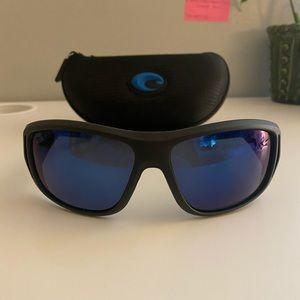 Men's Costa Del Mar Black Polarized Sunglasses